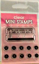 NEW INKADINKADO CLEAR STAMP SAVE THE DATE TICKET NUMBERS 98856