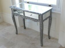 Blackened Silver Embossed console table marrakesh mirrored