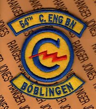 US Army 54th Combat Engineer Constabulary Bn BOBLINGEN GERMANY patch set