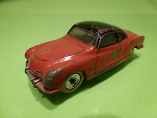DINKY TOYS VW VOLKSWAGEN KARMANN GHIA - RED 1:43 - GOOD CONDITION