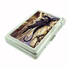 Metal Cigarette Case with Built In Lighter Dragon Design-007 Custom Medieval