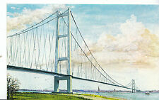 Yorkshire Postcard - The Humber Bridge - Artwork by R Mould   ZZ2840