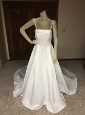 Alfred Angelo Wedding Dress Size 10 Ivory Beaded Pearl