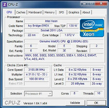 Intel Xeon E5-2667 v2 ES LGA2011 8C Compatible with X79 i7 3960X 4930K 4960X