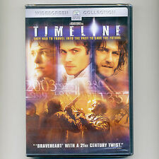 Timeline 2003 PG-13 movie, mint DVD Paul Walker, Frances O'Connor, Gerard Butler