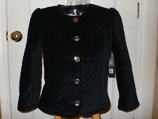 Marc Jacobs Black Velveteen Quilted Jacket $378 NWT 8