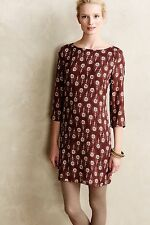 Anthropologie Porridge Piuma Shift dress peacock feathers L rare