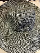Vintage Style New With Tags Woven Straw Wide Brim Sun Hat