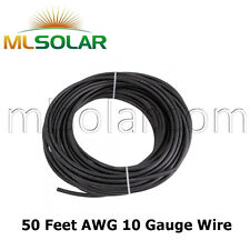 10 AWG Solar Panel Wire 50FT Power Cable UL 4703 Copper MADE IN USA PV 10 Gauge