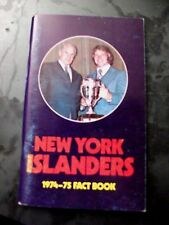 VINTAGE 1974-75 NY NEW YORK ISLANDERS MEDIA GUIDE FACT BOOK NICE CONDITION