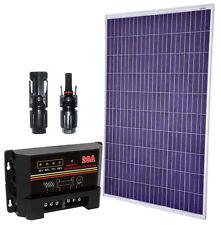 Kit Pannello Solare 12V 250W Poly + PWM 12V 20A e Connettori MC4 #30200259