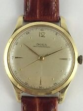 Vintage Estate14k Yellow Gold Doxa Swiss Made Wristwatch 36mm Recently Serviced
