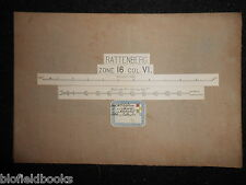 Vintage Military? Folding Map c1880 of Rattenberg (Austria/Inn) Zone 16, Col VI