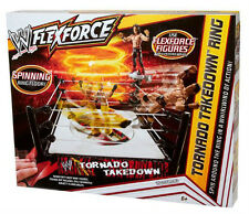 WWE TORNADO TAKEDOWN RING W/ SPINNING FLOOR *NU*