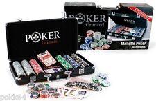 Mallette de POKER 300 jetons GRIMAUD malette + 2 jeux de cartes + bouton dealer