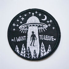 1Pc Embroidery Flying Saucer UFO Sew Iron On Patch Badge Bag Jeans Applique DIY