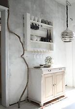 Massivholz Gewürzregal Weiß Gewürzhalter Regal Gläserhalter Wandregal Wohnzimmer