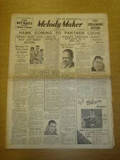 MELODY MAKER 1934 MAR 24 LEW STONE LOUIS ARMSTRONG HAWK BIG BAND SWING