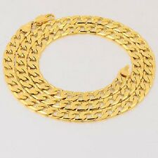 hip hop mens chunky 14k gold filled stainless steel necklace cuban link chain 24