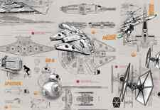 Star Wars Star Wars Blueprints.. Mural De Pared Foto Wallpaper (8-493)
