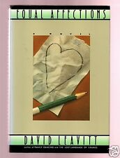 EQUAL AFFECTIONS GREAT AUTHOR DAVID LEAVITT FLAT SIGNED 1ST-VERY GOOD CONDITION