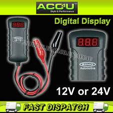 Ring RBA4 Dual 12v 24v Digital Voltmeter Car Battery Tester With Crocodile Clips