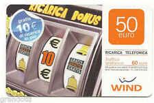 SLOT MACHINE RICARICA WIND ALTO VALORE 50 EURO  31/12/2011