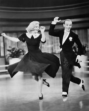 Fred Astaire and Ginger Rogers Dancing Black and White Art  Print Poster