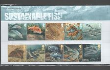 GB 2014 SUSTAINABLE FISH STAMP PRESENTATION PACK
