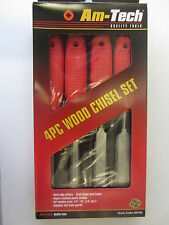 E0750 Am-Tech 4Pc Wood Chisel Set- Great Price!