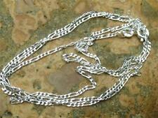 "925 SILVER 1MM FIGARO CHAIN/NECKLACE 22"" INCHES HANDCRAFTED JEWELLERY"