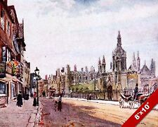 KINGS COLLEGE CAMBRIDGE ENGLAND ENGLISH LANDSCAPE ART PAINTING REAL CANVAS PRINT