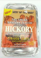 BBQ Woodchips - Disposable Smoker Tray For Gas or Coal, Best Of The West (c33)