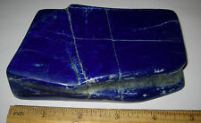 "4.7"" BEAUTIFUL HAND POLISHED NATURAL LAPIS STONE MINERAL AFGHANISTAN 484.4grams"