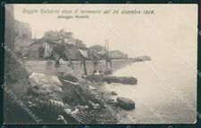 Reggio Calabria Città Terremoto 1908 PIEGA cartolina XB0192