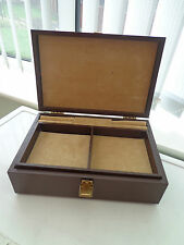 COLLECTIBLE MUSICAL JEWELLERY BOX BROWN VINYL