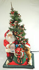 "Vintage/ Collectible Moving Santa with Toy Sack & Tree/ Plays 20 Songs/ 30"" Tall"
