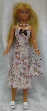 Clothes for VINTAGE SKIPPER Barbie Dolls #09 Dress, Purse & Beaded Necklace