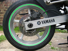 Green 8mm  Fluorescent Dayglo Motorbike /Car Wheel Rim Vinyl Strips/Tapes