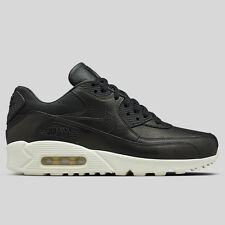 NIKE AIR MAX 90 PINNACLE MENS TRAINERS SHOE SIZE UK 8.5 EUR 43 BLACK LEATHER
