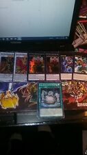 D/D/D Yugioh Deck 47 Cards (41 Deck 6 extra deck) Cards lightly played to nm