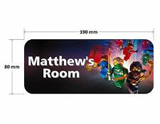 Lego Ninjago Personalised Childrens Bedroom Door Plaque Sign Boys Girls