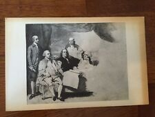Art Benjamin West Conference of the Treaty of Peace Postcard Old Vintage Card PC
