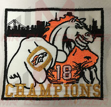 Super Bowl 50 Denver Broncos mascot champions Jersey PATCH sew on