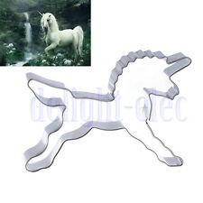 Unicorn Horse Cookie Cutter Biscuit Stamp Sugercraft Cake Topper Fondant Mold DG