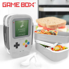 Retro Gameboy Game Box Bento Lunch Box Plastic Double Layer Food Container Box
