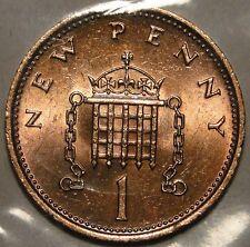 United Kingdom British 1978 1 new pence coin
