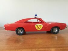 Vintage Processed Plastic Red Dodge Charger Fire Chief Car Toy Mopar