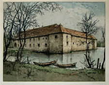 Jos.Eidenberger, Wasserburg Haus Graven, Radierung (K)