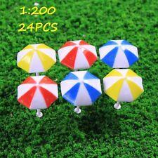 TYS11200 24pcs Modelleisenbahn Sun Umbrella Parasol Garden Sea Beach Spur Z DIY